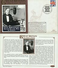 3 SEP 2014 75th ANN BRITAIN DECLARES WAR ON GERMANY BENHAM COVER