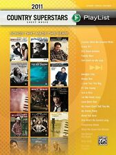 2011 Country Superstars Sheet Music Playlist-PIANO/V/GUITAR MUSIC BOOK-NEW-SALE!