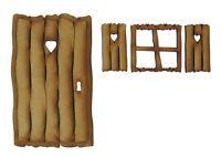 Wooden Fairy Door Fairy Window Fairy Shutters Fairy Log Cabin Fairy Garden Door