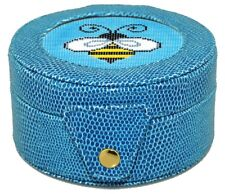Needlepoint Lee Gift Box Leather Blue