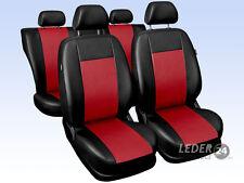 RENAULT MEGANE coche FUNDAS DE ASIENTO cuero artificial universal negro rojo