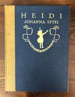HEIDI Johanna Spyri 1919 J. Lippincott Maria Kirk Tipped in Plates