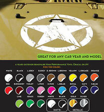 JEEP Army Star Hood Decal w/2 FREE Side-Fender sticker vinyl Military any color