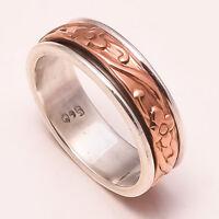 Solid 925 Sterling Silver Spinner Ring Meditation Statement Ring Size sr24446