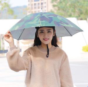 Sun Shade Umbrellas Hat Folding Outdoor Travel Headwear Camping Props Zha19