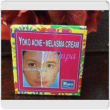 6 YOKO Q10 ENZYME ACNE MELASMA FACIAL WHITENING CREAM REDUCE BLEMISHES AND ACNE