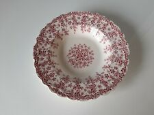 More details for crown ducal early english ivy pink soup bowl - good condition - 22.5 cm
