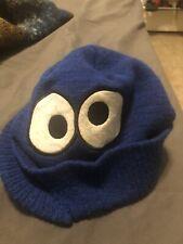 Sesame Streer coolie monster Knit Cap With Mini Visor