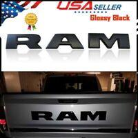 Dodge Ram 1500 DT Matte Black tailgate letter Ram Nameplate Emblem Mopar OEM