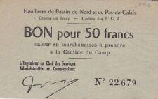 1581 - Houillères du Bassin du Nord et du Pas-de-Calais, Bruay, Bon pour 50