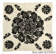 ANTIQUE Hungarian embroidered linen tablecloth KALOTASZEG Romania folk textile