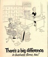 Larry Reynolds Office Cartoon Standard Register Business 1952 Vintage Print Ad