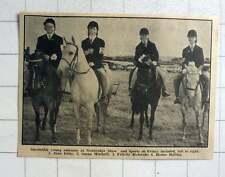 1964 Newbridge Show, Jean Eddy, Susan Mitchell, Felicity Richards, Hester Bolith