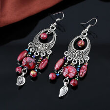 Red Pearls Indian Jewelery Perlenohrring Native American Earring Silver Colored