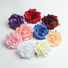 """4"""" Cloth Rose Lot Large Artificial Flowers Heads Fake Floral Wedding Home Decor"""