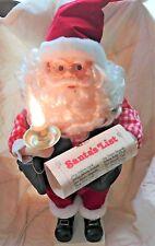 "Vintage Animated & Illuminated 25"" Santa Claus Checking His List"