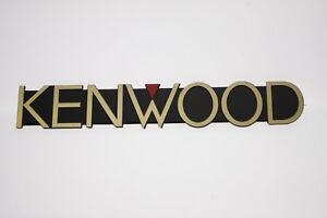 For Replacement KENWOOD Aluminium Golden Logo Emblem Badge 161mm x25mm