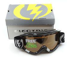 Electric EG1 Snowboard Ski Goggles Black Gloss Orange Lens w Bonus Rose Lens
