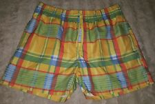 WOMENS Sz L yellow multicoloured RIVERS surf / board shorts COMFY! ELASTIC WAIST