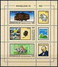 Mongolia 1979 SG#MS1233 brasiliana Stamp Exhibition MNH M/S #D2296