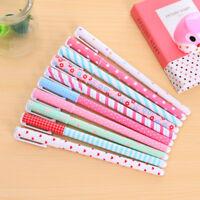 10 Pcs /Set Multi Colors Colorful Gel Ink Pen Cute Korean Cartoon Pin Type New.
