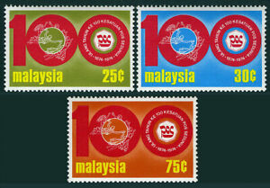Malaisie 120-122, MNH Upu ,Centenary. Emblèmes,1974