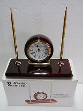 Howard Miller 613-588 Rosewood Desk Set Table Alarm Clock in Original Box