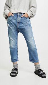 R13 drop crotch jeans