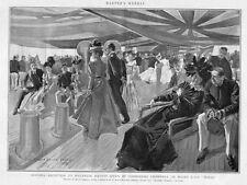 Havana Cuba Reception To Havanese Society By Commodore Cromwell On U.S.S. Texas