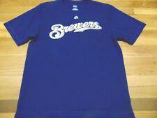 NEW MAJESTIC MLB MILWAUKEE BREWERS JEAN SEGURA PERFORMANCE JERSEY T-SHIRT SIZE L