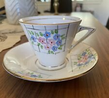Vintage Art deco Tea Cup and Saucer T. F. & Son Ltd Phoenix bone china #7126