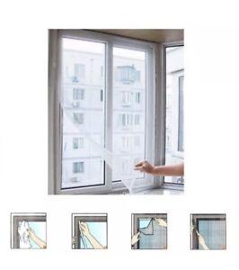 Window Insect Screen Velcro Mesh Net Bug Fly Moth Mosquito Netting Protection UK
