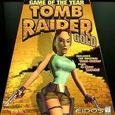 Tomb Raider Gold Pc Game 1998 Trapezoid Big Box Free Shipping!