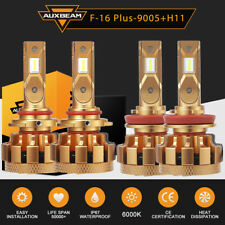 AUXBEAM 9005+H11 LED Headlight Bulbs for Chevy Silverado 1500 2500 3500 Hi-Low