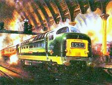 Deltic D9002 The Kings Own Yorkshire Light Infantry Steam Train Painting Poster