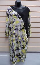 DRESS MULTI PRINT SIZE 22 TOGETHER JERSEY MESH DETAIL FAX WRAP DETAIL BNWT (G005