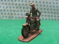 Netherlands Dutch Colonial Trooper  with Motosacoche   - scala 1/32