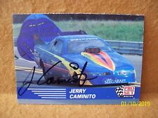 NHRA Jerry Caminito AUTOGRAPHED 1991 PRO SET Racing FUNNY CAR Card #75 Signed