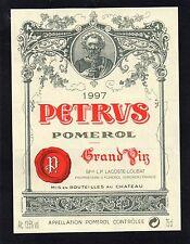 POMEROL 1ER GCC VIEILLE ETIQUETTE CHATEAU PETRUS 1997 75 CL RARE     §06/02/17§