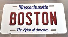 USA Auto Nummernschild License Plate Deko Blechschild Boston Massachusetts