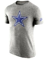 NIKE DALLAS COWBOYS HISTORIC LOGO TRI BLEND T-SHIRT GREY HEATHER (MEN'S MEDIUM)