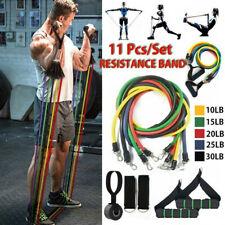 11tlg Set Fitnessbänder Widerstandsbänder Sports Trainingsbänder Gymnastikbänder