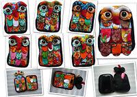 Smartphonetasche Eulen Design Smartphone Socke Handy Tasche Handysocke Eule Uhu