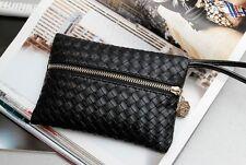 Korean style women fashion establishment handbags Pu Leather Purse Wallet AA*