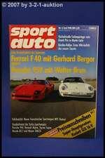 Sport Auto 6/88 Ferrari F40 Porsche 959 Renault Alpine