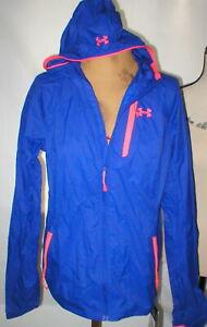 New Womens Under Armour Storm S Purple Jacket Rain Run All Season NWT