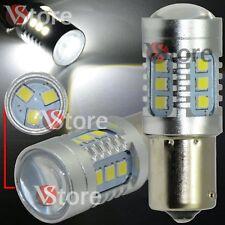 2X Lampada Led Stop Freni BA15S 1156 P21W 15SMD 2835 HID CANBUS Bianco 12V 24V