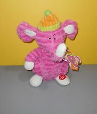 "Singing Animated Ear Wiggle Pink 12"" Elephant Plush Toy Do your Ears Hang Low"
