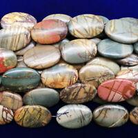 """12x27-12x44mm Natural Red Flower Jasper Gem Beads 15.5/"""""""