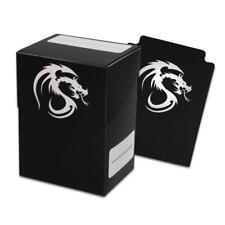 4 BCW BLACK DECK CASE MAGIC THE GATHERING MTG DECK PROTECTOR BOX